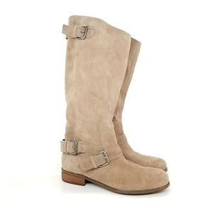 DV by Dolce Vita Suede Buckled Riding Boots Sz 9.5